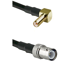 SLB Right Angle Male on RG400 to BNC Reverse Polarity Female Cable Assembly