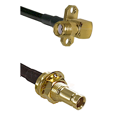 SMA 2 Hole Right Angle Female on LMR100 to 10/23 Female Bulkhead Cable Assembly