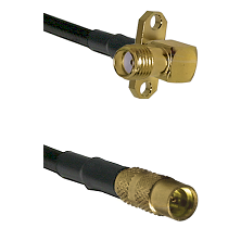 SMA 2 Hole Right Angle Female on LMR100 to MMCX Female Cable Assembly