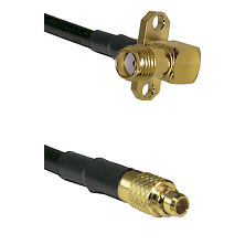 SMA 2 Hole Right Angle Female on LMR100 to MMCX Male Cable Assembly
