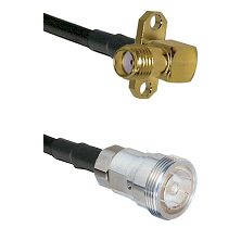 SMA 2 Hole Right Angle Female on LMR-195-UF UltraFlex to 7/16 Din Female Cable Assembly