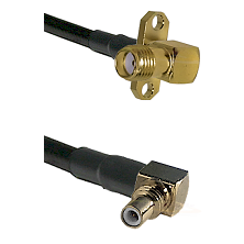 SMA 2 Hole Right Angle Female on LMR195 to SSMC Right Angle Male Cable Assembly