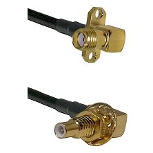 SMA 2 Hole Right Angle Female on LMR-195-UF UltraFlex to SLB Male Bulkhead Cable Assembly