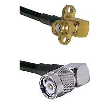 SMA 2 Hole Right Angle Female on LMR200 UltraFlex to TNC Right Angle Male Cable Assembly