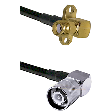 SMA 2 Hole Right Angle Female Connector On LMR-240UF UltraFlex To SC Right Angle Male Connector Coax