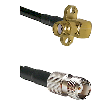 SMA 2 Hole Right Angle Female on LMR240 Ultra Flex to TNC Female Cable Assembly