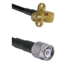 SMA 2 Hole Right Angle Female on LMR240 Ultra Flex to TNC Male Cable Assembly