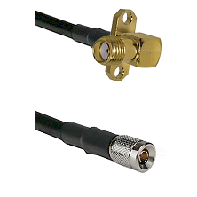 SMA 2 Hole Right Angle Female on RG142 to 10/23 Male Cable Assembly