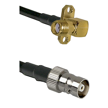 SMA 2 Hole Right Angle Female on RG142 to C Female Cable Assembly