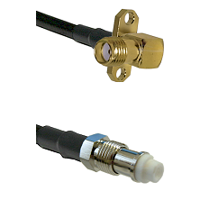 SMA 2 Hole Right Angle Female on RG142 to FME Female Cable Assembly