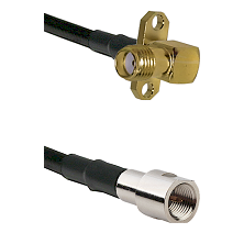 SMA 2 Hole Right Angle Female on RG142 to FME Male Cable Assembly