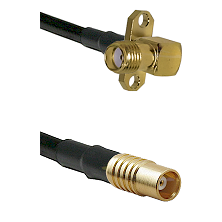 SMA 2 Hole Right Angle Female on RG142 to MCX Female Cable Assembly