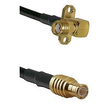 SMA 2 Hole Right Angle Female on RG142 to MCX Male Cable Assembly