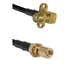 SMA 2 Hole Right Angle Female on RG223 to SSMC Female Bulkhead Cable Assembly