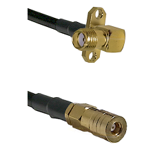 SMA 2 Hole Right Angle Female on RG316 to SSMB Female Cable Assembly