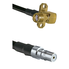 SMA 2 Hole Right Angle Female on RG400 to QMA Female Cable Assembly