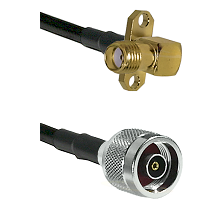 SMA 2 Hole Right Angle Female on RG400 to N Reverse Polarity Male Cable Assembly