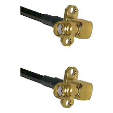 SMA 2 Hole Right Angle Female on RG400 to SMA 2 Hole Right Angle Female Cable Assembly