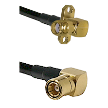SMA 2 Hole Right Angle Female on RG400 to SMB Right Angle Female Cable Assembly