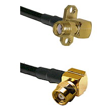 SMA 2 Hole Right Angle Female on RG400 to SMC Right Angle Female Cable Assembly