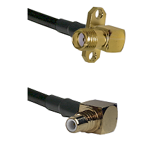 SMA 2 Hole Right Angle Female on RG400 to SMC Right Angle Male Cable Assembly