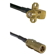 SMA 2 Hole Right Angle Female on RG400 to SLB Female Cable Assembly