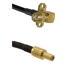 SMA 2 Hole Right Angle Female on RG400 to SLB Male Cable Assembly
