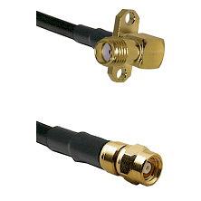 SMA 2 Hole Right Angle Female on RG400 to SMC Female Cable Assembly