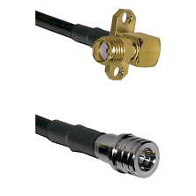 SMA 2 Hole Right Angle Female on RG58C/U to QMA Male Cable Assembly