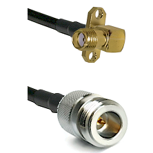 SMA 2 Hole Right Angle Female on RG58C/U to N Reverse Polarity Female Cable Assembly