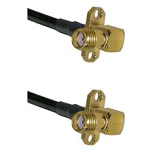 SMA 2 Hole Right Angle Female on RG58C/U to SMA 2 Hole Right Angle Female Cable Assembly