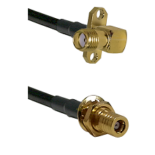 SMA 2 Hole Right Angle Female on RG58C/U to SLB Female Bulkhead Cable Assembly