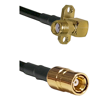 SMA 2 Hole Right Angle Female on RG58C/U to SMB Female Cable Assembly