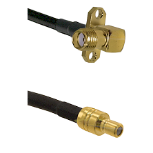 SMA 2 Hole Right Angle Female on RG58C/U to SMB Male Cable Assembly