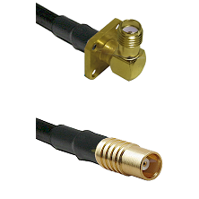 SMA 4 Hole Right Angle Female on LMR100 to MCX Female Cable Assembly