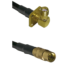 SMA 4 Hole Right Angle Female on LMR100 to MMCX Female Cable Assembly
