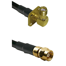 SMA 4 Hole Right Angle Female on LMR-195-UF UltraFlex to SMC Male Cable Assembly