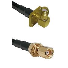 SMA 4 Hole Right Angle Female on LMR-195-UF UltraFlex to SMC Female Bulkhead Cable Assembly
