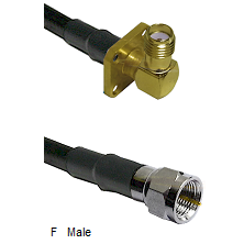 SMA 4 Hole Right Angle Female Connector On LMR-240UF UltraFlex To F Male Connector Coaxial Cable Ass