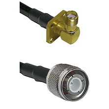 SMA 4 Hole Right Angle Female Connector On LMR-240UF UltraFlex To HN Male Connector Coaxial Cable As