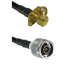SMA 4 Hole Right Angle Female on LMR240 Ultra Flex to N Reverse Polarity Male Cable Assembly