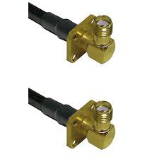 SMA 4 Hole Right Angle Female Connector On LMR-240UF UltraFlex To SMA 4 Hole Right Angle Female Conn