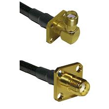 SMA 4 Hole Right Angle Female Connector On LMR-240UF UltraFlex To SMA 4 Hole Female Connector Coaxia