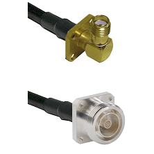 SMA 4 Hole Right Angle Female on RG142 to 7/16 4 Hole Female Cable Assembly