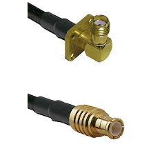 SMA 4 Hole Right Angle Female on RG142 to MCX Male Cable Assembly