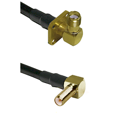 SMA 4 Hole Right Angle Female on RG400 to SLB Right Angle Male Cable Assembly