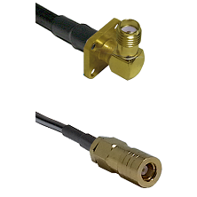 SMA 4 Hole Right Angle Female on RG400 to SLB Female Cable Assembly