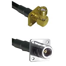 SMA 4 Hole Right Angle Female on RG58C/U to N 4 Hole Female Cable Assembly