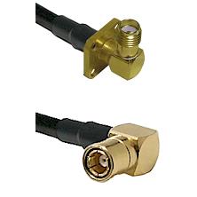 SMA 4 Hole Right Angle Female on RG58C/U to SMB Right Angle Female Cable Assembly