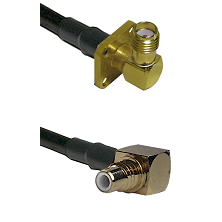 SMA 4 Hole Right Angle Female on RG58C/U to SMC Right Angle Male Cable Assembly